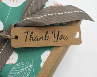 X50 'THANK YOU' craft labels sewing knitting tags