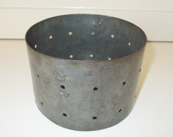 Vintage French Fromagerie Cheese Mould.  Metal mold for making goat and cow cheese making    (4875s)