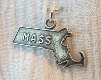 Massachusetts State Sterling Silver Charm