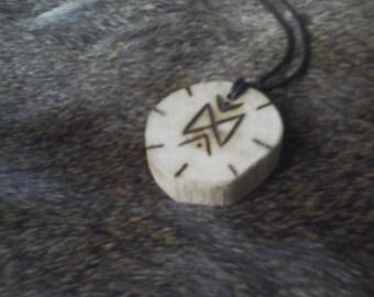 Viking Oak Dagaz Rune Pendant