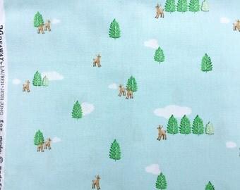 Hideaway deer aqua Lauren & Jessi Jung moda fabrics FQ or more