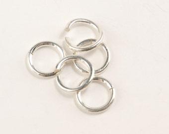 Sterling Silver Jump Rings - 10mm