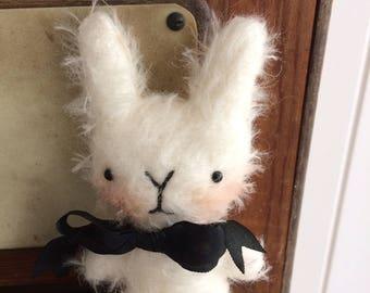 Sweet little Albert mohair Easter bunny rabbit.