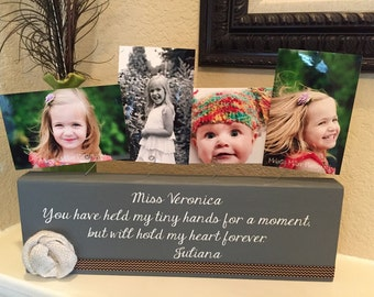 Nanny Teacher Gift From Kids Personalized Frame From Kids For Nanny Aunt New Great Grandma Gift Wood Custom Choose Your Quote & Colors!