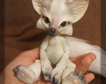 Kisune the Fox - Winter Fox - white resin - ball joint doll / BJD