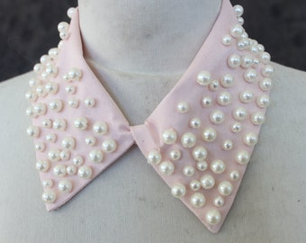 Cute embroidered   and beaded  applique  pink color