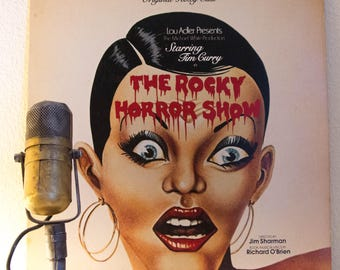 "ON SALE The Rocky Horror Show(with ""Time Warp"", Original Roxy Cast w/ Tim Curry)Vinyl Record Album ""The Rocky Horror Show""(1970s Ode w/""Time"