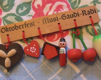 tiny wooden charms from germany