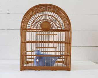 Bird cage wood bird cage bamboo bird cage