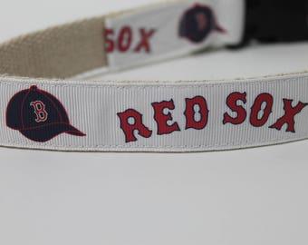 Boston Red Sox hemp dog collar or leash