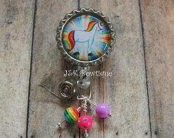 Unicorn....Rainbow....Badge Reel....Lula Roe, medical, nurse, teacher