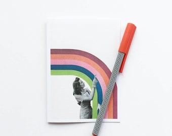 Blank Greetings Card, Birthday Card, Anniversary Card - Paint a Rainbow