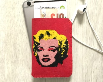 Business Card Case-Credit Card Holder-Business Card Holder-Credit Card Case-Travel Card Wallet-Gift Card Wallet-Marilyn Monroe Pop Art