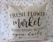 Fresh Flower Market Pillow Cover