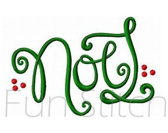 Christmas NOEL machine embroidery design instant download