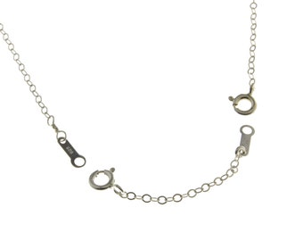 "1"", 2"", 3"", 4"", 5"" chain adjuster, necklace adjuster, necklace extender, sterling silver, sterling adjuster, sterling extender, extend chain"