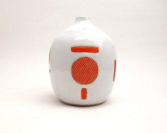 Ceramic Code Bud Vase
