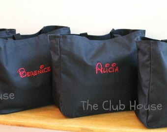 Personalized Vacation Travel Bag, Zipper Closure Diaper Tote Bag, Monogrammed Bags, Custom Embroidery, Gifts Under 20 Dollars