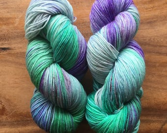 Fluorite Super Soft Sock Yarn; 75/25 merino/nylon fingering weight