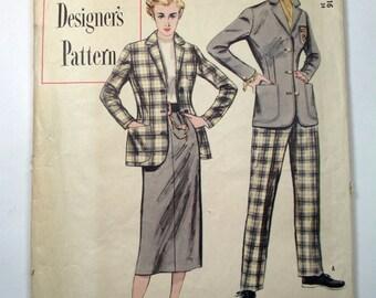 "Antique 1950 Simplicity Pattern #8339 - size 34"" Bust"