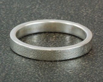 Sterling silver band with textured finish