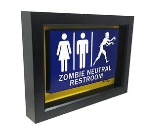 Zombie Bathroom Signs zombie art | etsy