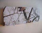 White Camouflaged Key Rack Camo Hunting Decor Real Tree White
