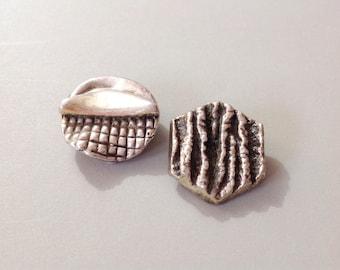 Sterling silver, N. S. Bar-on, sterling earrings, vtg modernist jewelry, sterling modernist, silver modernist, silver earrings,