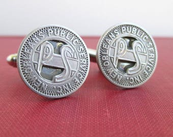 NEW ORLEANS Transit Token Cuff Links - Vintage, Repurposed Silver Coins