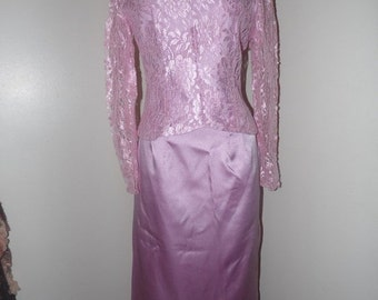 75% Off Sale Vintage Formal Skirt and Lace Blouse/NWT/Sz 9/10