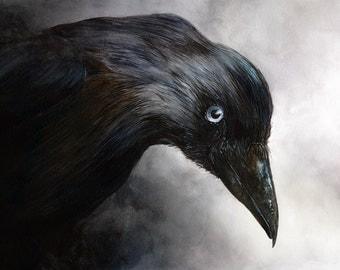 Crow Painting Print