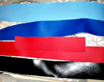 SALE - Vinyl Upholstery Fabric Scrap Bundle - On SALE - Long Narrow Pieces - Small Pieces