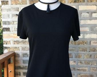 90s Black Maxi Dress sz S-M