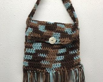 Hand Crocheted  Boho Bag