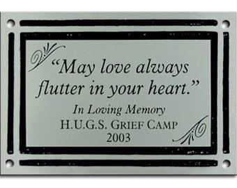Memorial or Garden Plaque - Custom Design - Cast Aluminum