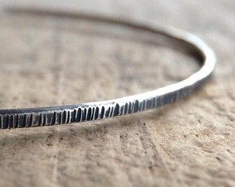 Antique Silver Tree Bangle, Sterling Silver Bracelet, Stackable Bangle, Stacking Bracelet, Boho Bracelet, Bohemian Jewelry, Mother's Day