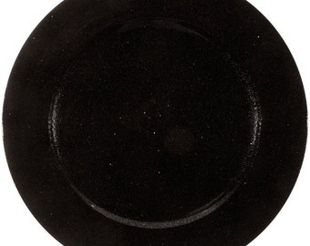 """13"""" Black Wedding / Party Glitter Plate Charger"""