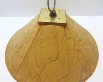 Vintage Fibreglass Lamp Shade, Clip on Lampshade