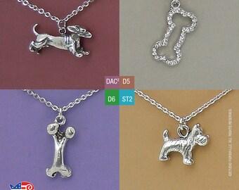 For Dog Lovers: Running Dachshund, Blingy Bone, Solid Bone, Small Terrier