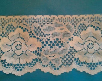 White Lace Sewing Trim 3 Yards by 4 1/2 Inches Wide L0596S
