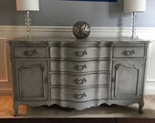 Gustavian Antique Gray French Buffet