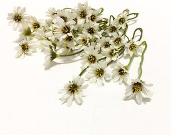 Off White Wild Daisy Stems - Flower Crown, Halo, Wildflowers, Artificial Flowers, Silk Flowers, Wedding Flowers, Hair Accessory