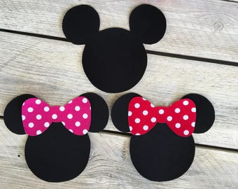 Minnie or Mickey Mouse Inspired Iron On with Bow Applique DIY