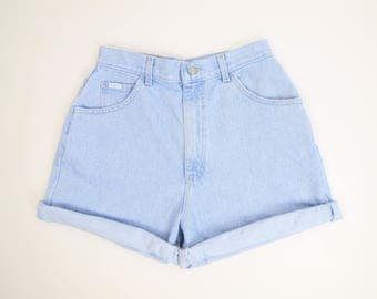 VINTAGE Lee Jeans Denim Shorts 1980s High Waist