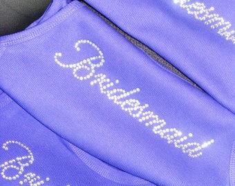 Purple Bridesmaid Tanks . Bridesmaid Rhinestone Tank Tops. SUMMER SALE - 10.00 . Plus Size Bridal Party Shirts . Bridesmaid Gift Ideas