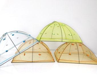 Vintage Mesh Food Tent / Umbrella / Food Protector / Picnic Food Saver