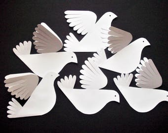 Paper Birds--Six Cute Little Fancy Tail Doves