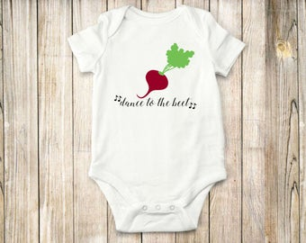 Dance to the Beet, Onesie, Bodysuit, Shirt, Music, Farm, Baby Clothing, Children clothing,