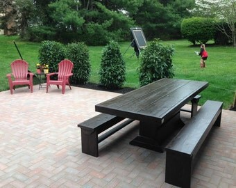 4 foot patio table and bench set