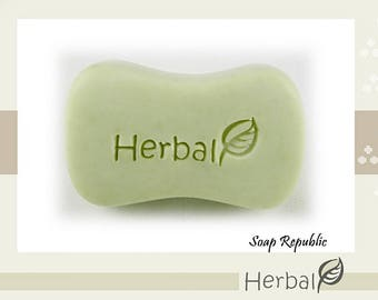 20% off ~ SoapRepublic Herbal / Acrylic Soap Stamp / Cookie Stamp / Clay Stamp
